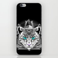 snow leopard iPhone & iPod Skins featuring Snow Leopard by chobopop