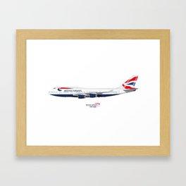 British Airways 747 Framed Art Print