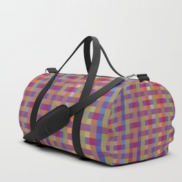 darker brights plaid Duffle Bag