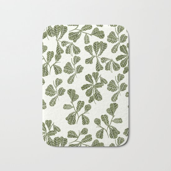 Fig Leaf Pattern Bath Mat