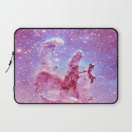 Galaxy nebula : Pillars of Creation lavender mauve periwinkle Laptop Sleeve