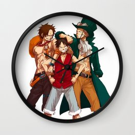 One Piece epic cool monkey d luffy ace epic Wall Clock