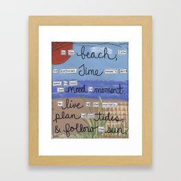 At the beach... Framed Art Print