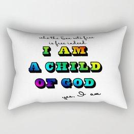 I am a Child of God-Rainbow Graphic Design Rectangular Pillow