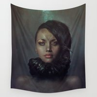 raven Wall Tapestries featuring Raven by Flo Tucci