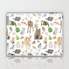 Woodland Animals Watercolor Laptop & iPad Skin