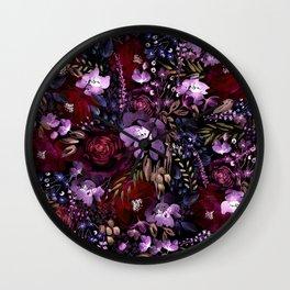 Deep Floral Chaos Wall Clock