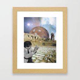 Moon Honey Framed Art Print