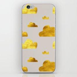 Gold Clouds iPhone Skin