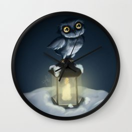 The Owl and the Lantern Wall Clock