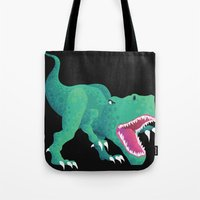 dinosaur Tote Bags featuring Dinosaur by Kalisch illustrations
