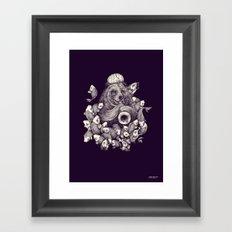 Fish charmer Framed Art Print
