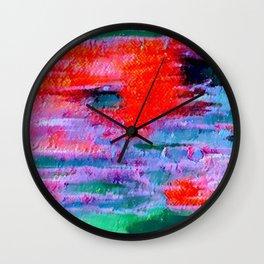 Abstract intense mixed Wall Clock