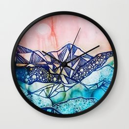 Textured Dreamscape Wall Clock