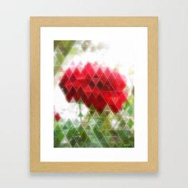 Red Rose with Light 1 Art Triangles 2 Framed Art Print