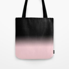 Modern abstract elegant black blush pink gradient pattern Tote Bag