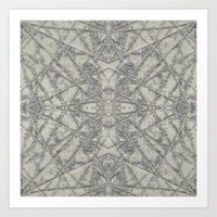 snowflake Art Prints featuring Snowflake  by Project M