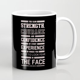Lab No. 4 Strength Does Not Come Arnold Schwarzenegger Motivational Quote Coffee Mug