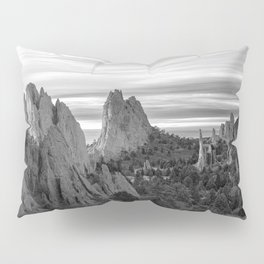 Garden of the Gods - Colorado Springs Landscape in Black and White Pillow Sham