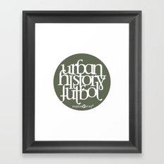 Urban History Futbol Framed Art Print