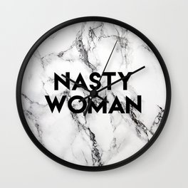 Nasty Woman (marble) Wall Clock