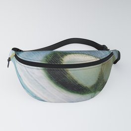 Peacock Feather Portrait Fanny Pack