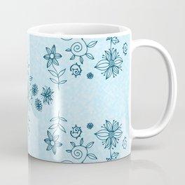 Summer dream flower bed - blue on light cloudy blue Coffee Mug