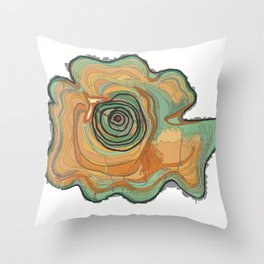Tree Stump Series 3 - Illustration Throw Pillow
