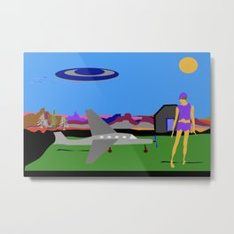 Chased By UFO Metal Print