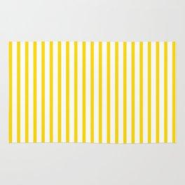 Yellow & White Vertical Stripes Rug