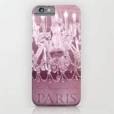 Paris Pink White Sparkling Crystal Chandelier Wall Art and Home Decor Slim Case iPhone 6s
