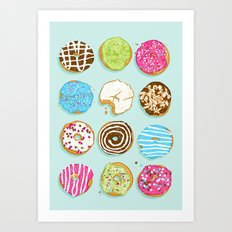 Sweet donuts Art Print