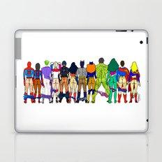Superhero Power Couple Butts Laptop & iPad Skin
