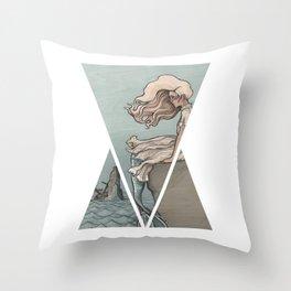 Evolution of a Mermaid Throw Pillow