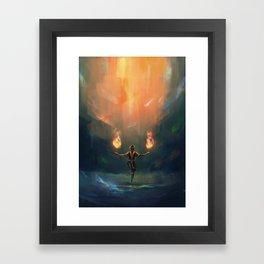 Firebender Framed Art Print
