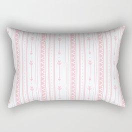 Blush pink white bohemian arrows zigzag geometrical Rectangular Pillow
