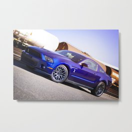 2012 Shelby GT-500 at the trainstation Metal Print