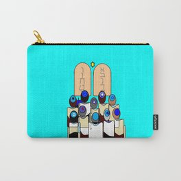 A Bar Mitzvah Design with Blue Background Carry-All Pouch