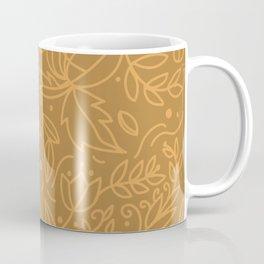 Earthy Natural Organic Pattern - Cinnamon & gold colors Coffee Mug