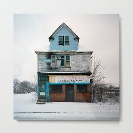 Thorntn Grocery. Detroit, Michigan. Metal Print