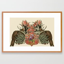 fuerte anatomical collage by bedelgeuse Framed Art Print