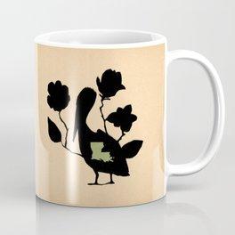 Louisiana - State Papercut Print Coffee Mug