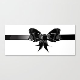 Black Silk Bow Canvas Print