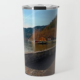Sunny afternoon at the harbour | landscape photography Travel Mug