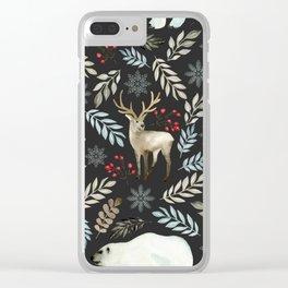 Winter wonderland 5 Clear iPhone Case