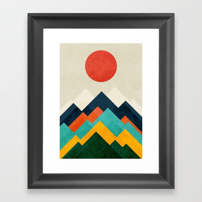 The hills are alive Gerahmter Kunstdruck