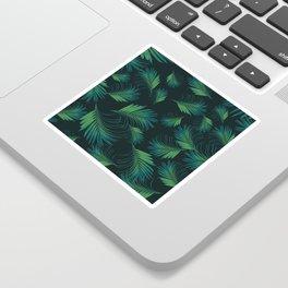 Tropical Night Palms Pattern #1 #tropical #decor #art #society6 Sticker