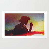 Distressed Cowboy Art Print
