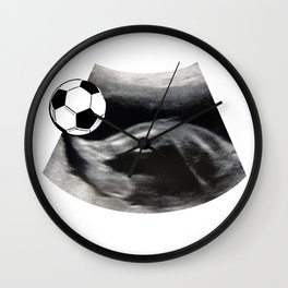 Soccer playing - Ultrasound baby Wall Clock