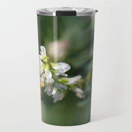 Honey Bee on Green Travel Mug
